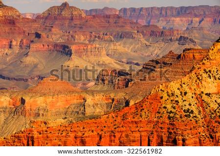 Panorama of the Grand Canyon, Arizona, USA. Grand Canyon national park - stock photo