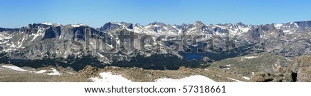 panorama of the Wind River Mountains from Mount Chauvenet looking northwest