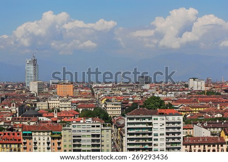 Panorama of Turin - stock photo