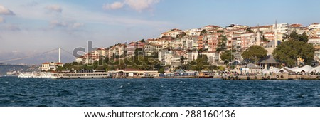 Panorama of Uskudar district in Istanbul, Turkey.