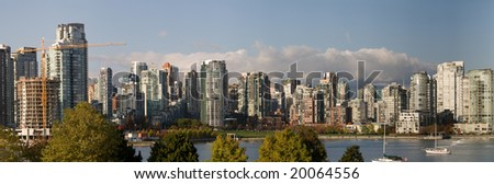 Panorama of Vancouver Urban Cityscape - stock photo