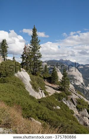 Panorama of Yosemite Valley - stock photo