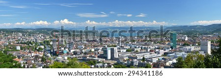 Panorama of Zurich, Switzerland - stock photo
