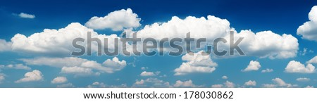 Panorama sky and clouds - stock photo