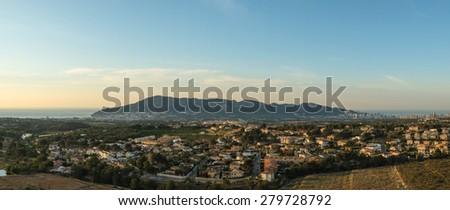 Panorama take of the central section of Costa Blanca, Spain - stock photo