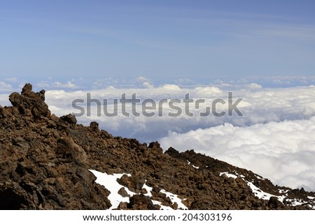 Panorama view from Teide mountain - stock photo