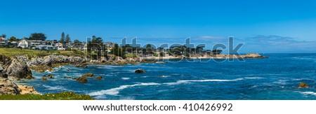 Panorama view of Monterey bay - stock photo