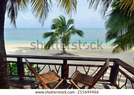 Panorama view of tropical  Island. Concept photo travel vacation - stock photo