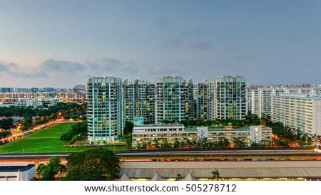 Panoramic Aerial View Eunos HDB Next Stock Photo (Royalty Free ...