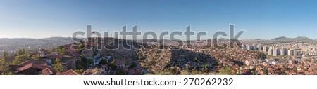 Panoramic Ankara - stock photo