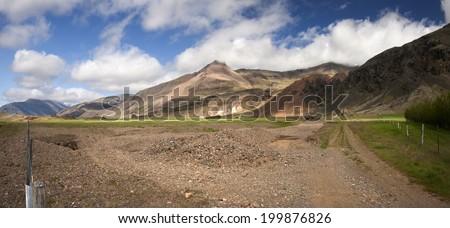 Panoramic Iceland/South Iceland - stock photo