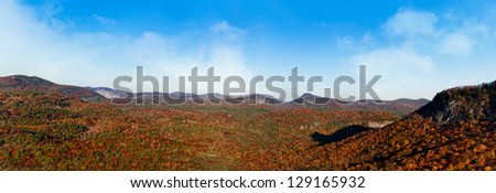 Panoramic image of the Shadow of the Bear located between Highlands and Cashiers, NC - stock photo
