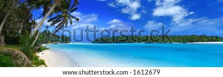 Panoramic Lagoon 2 - stock photo
