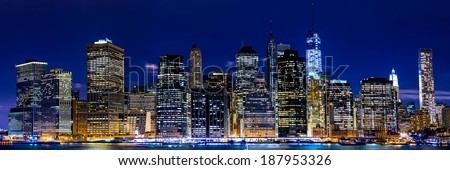 Panoramic night view of New York