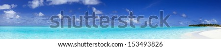 Panoramic sea. Tropical horizontal composition - stock photo