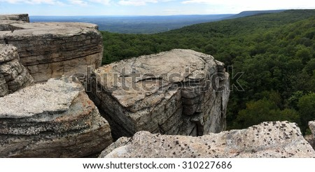 Panoramic view at Minnewaska State Park Reserve Upstate NY during summer time