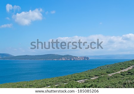 panoramic view from Capo Caccia