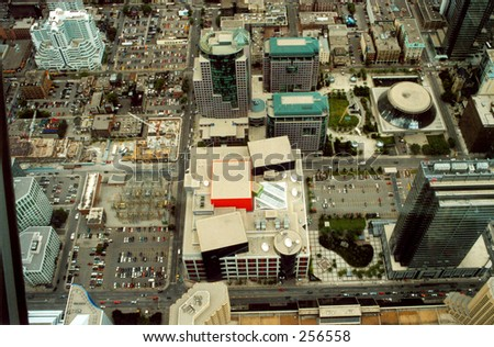 Panoramic view from the CN Tower, Toronto #2 - stock photo