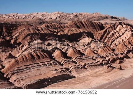 panoramic view in atacama desert in chile - stock photo