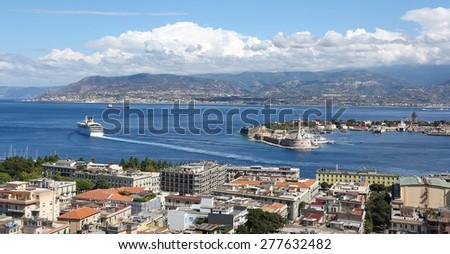 Panoramic view, Messina, Sicily, Italy - stock photo