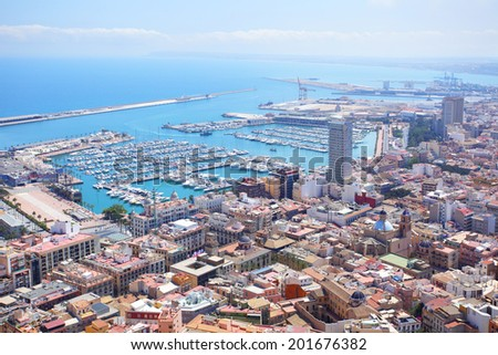 Panoramic view of Alicante, Spain