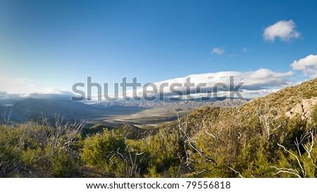 Panoramic view of Anza-Borrego Desert State Park, Southern California, USA - stock photo