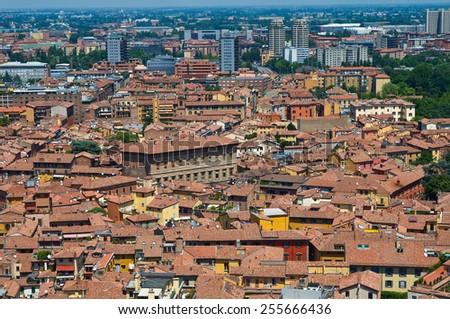 Panoramic view of Bologna. Emilia-Romagna. Italy.  - stock photo