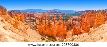 Panoramic view of Bryce Canyon National Park - Utah, USA - stock photo