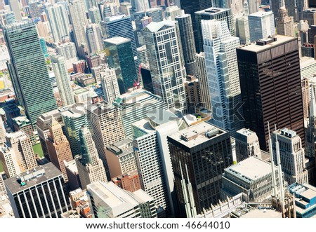 Panoramic view of Chicago city during summer day - stock photo