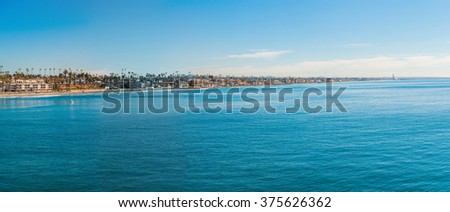 Panoramic view of Coastline in San Diego - stock photo
