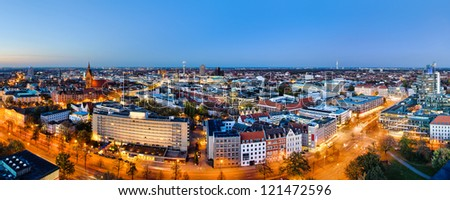 Panoramic view of Hannover, Germany - stock photo