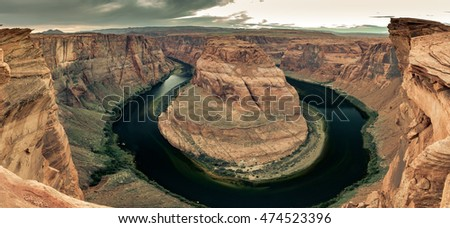 Panoramic view of Horse Shoe Bend (high-resolution).