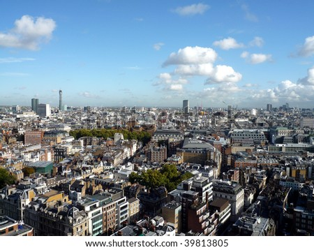 Panoramic view of London  England - stock photo