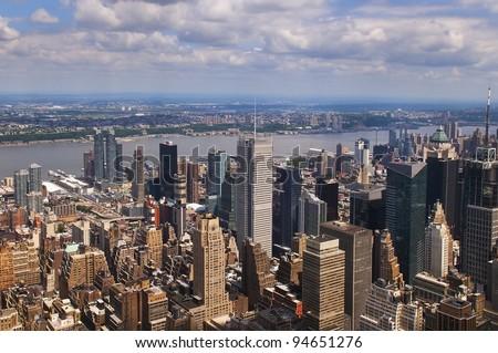Panoramic view of Manhattan, New York, - stock photo