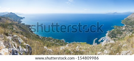 Panoramic view of Maratea. Basilicata. Italy