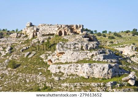 Panoramic view of Matera. Basilicata. Italy.  - stock photo