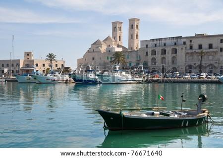 Panoramic view of Molfetta. Apulia. - stock photo
