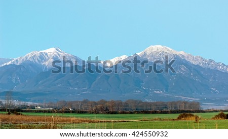 Panoramic view of mount Olympus, Pieria, Makedonia, Greece
