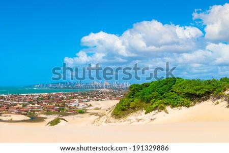 Panoramic view of Natal, Brazil - stock photo