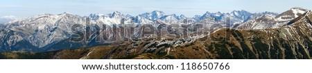 panoramic view of Rohace, West Tatra mountains, Slovakia, Poland - stock photo
