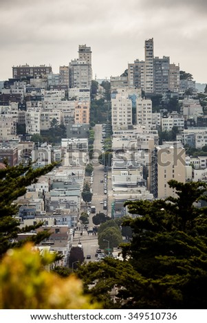 Panoramic view of San Francisco, California, USA