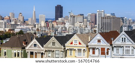 Panoramic view of San Francisco, USA - stock photo