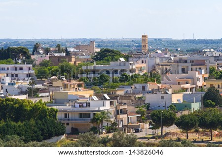 Panoramic view of Specchia. Puglia. Italy.