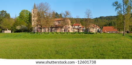 panoramic view of the Cistercian Abbey of Tiglieto, built in 1120 AD