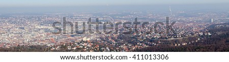 Panoramic view of the city of Stuttgart in Germany
