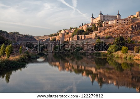 Panoramic view of the city of Toledo in Spain - stock photo
