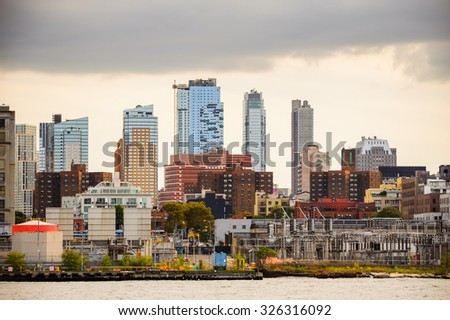 Panoramic view of the Downtown of Manhattan, New York City, United States of America