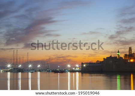 Panoramic view of the Old city of Acre (Akko), Mediterranean, Israel  - stock photo