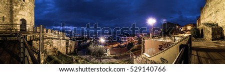 Panoramic View of Thessaloniki at Night from Trigoniou Tower