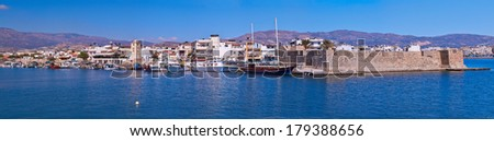 Panoramic view of venetian fortress at Ierapetra in Crete, Greece.